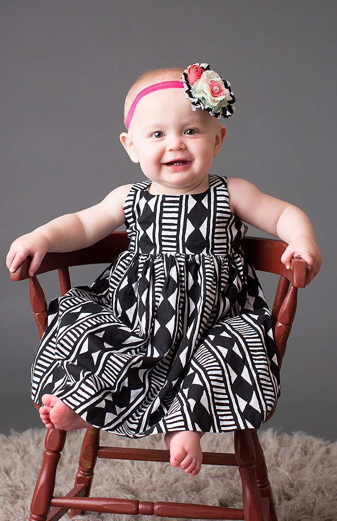 studio portrait of baby girl by pixelations photography