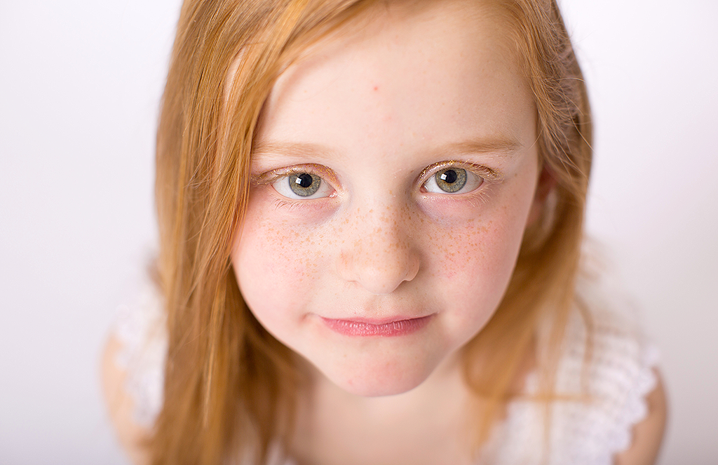 studio portrait of a girl by pixelations photography