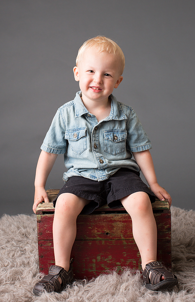 studio portrait of little boy by pixelations photography